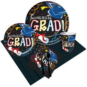 Congrats Grad Colorful Party Pack (8 Count)