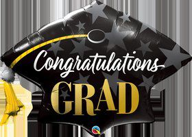 "Congratulations Grad 41"" Shaped Foil Balloon"