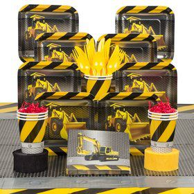 Construction Deluxe Tableware Kit (Serves 8)