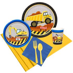 Construction Party Party Pack for 8