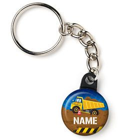 "Construction Party Personalized 1"" Mini Key Chain (Each)"