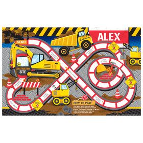 Construction Party Personalized Activity Mat (8 Count)