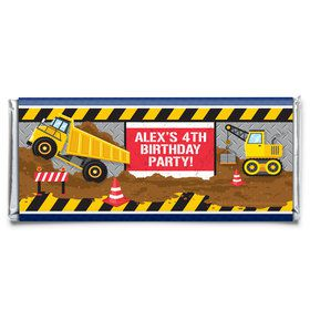 Construction Party Personalized Candy Bar Wrapper (Each)