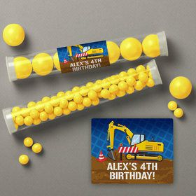 Construction Party Personalized Candy Tubes (12 Count)