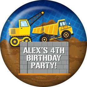 Construction Party Personalized Magnet (Each)