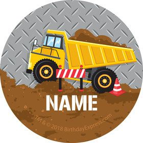 Construction Party Personalized Mini Stickers (Sheet of 24)