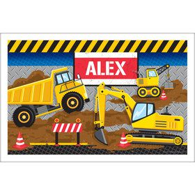 Construction Party Personalized Placemat (Each)