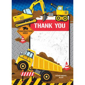 Construction Party Personalized Thank You (Each)