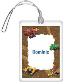 Construction Personalized Bag Tag (each)