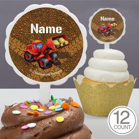 Construction Personalized Cupcake Picks (12 Count)