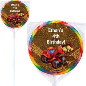 Construction Personalized Lollipops (pack of 12)