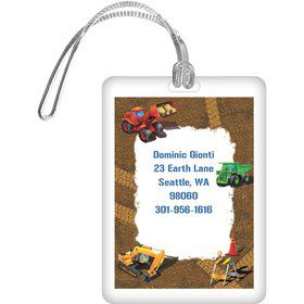 Construction Personalized Luggage Tag (each)