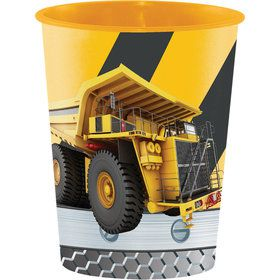 Construction Zone 16oz Plastic Favor Cup (1)