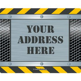 Construction Zone Personalized Address Labels (Sheet of 15)