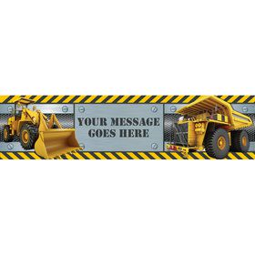 Construction Zone Personalized Banner (Each)