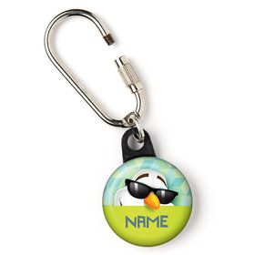 "Cool Snowman Personalized 1"" Carabiner (Each)"
