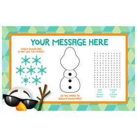 Cool Snowman Personalized Activity Mat (Each)