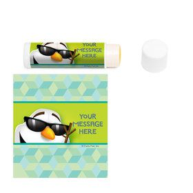 Cool Snowman Personalized Lip Balm (12 Pack)