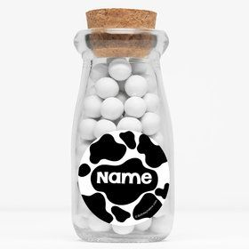 "Cow Personalized 4"" Glass Milk Jars (Set of 12)"