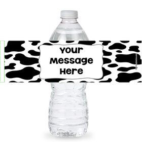 Cow Personalized Bottle Labels (Sheet of 4)