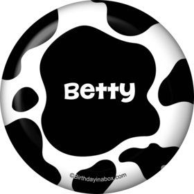 Cow Personalized Button (Each)