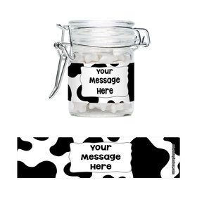 Cow Personalized Glass Apothecary Jars (10 Count)