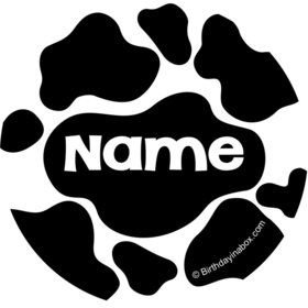 Cow Personalized Mini Stickers (Sheet of 24)