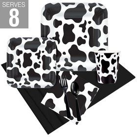 Cow Print Party Pack For 8