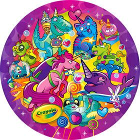 "Crayola Uni-Creatures 9"" Lunch Plate (8)"
