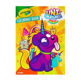 Crayola Uni-Creatures Coloring Book with Stickers