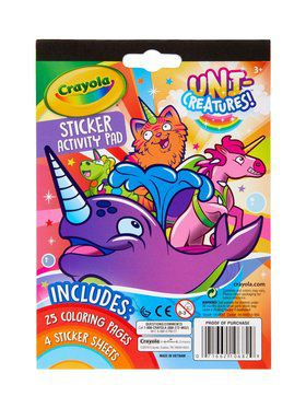 Crayola Uni-Creatures Sticker Activity Pad