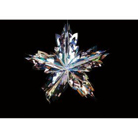 "Crystal 16"" Star Leaf Pendant"