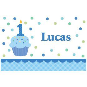 Cupcake 1st Birthday Boy Personalized Placemat (each)
