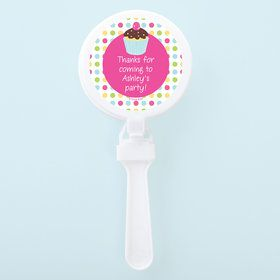 Cupcake Birthday Personalized Clappers (Set of 12)