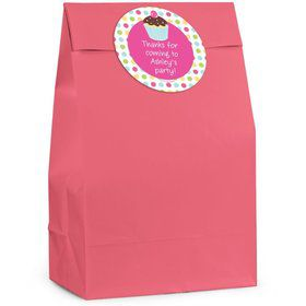 Cupcake Birthday Personalized Favor Bag (Set Of 12)