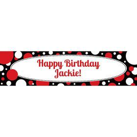 Cupcake Blowout Personalized Banner (Each)