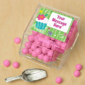 Cupcake Party Personalized Candy Bin with Candy Scoop (10 Count)
