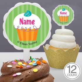 Cupcake Party Personalized Cupcake Picks (12 Count)