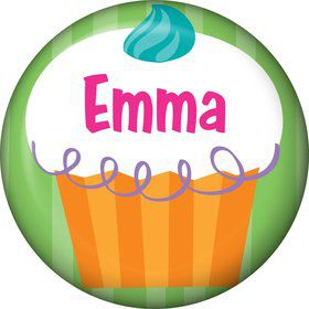 Cupcake Party Personalized Mini Magnet (each)
