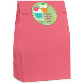 Cupcake Personalized Favor Bag (Set Of 12)