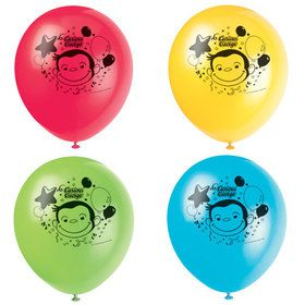 "Curious George 12"" Latex Balloons (8)"