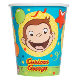 Curious George 9oz Paper Cups (8)