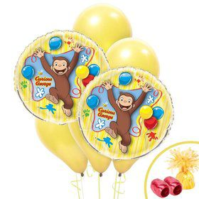 Curious George Jumbo Balloon Bouquet