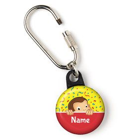 "Curious Monkey Personalized 1"" Carabiner (Each)"