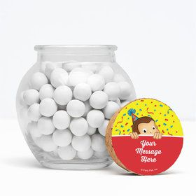 """Curious Monkey Personalized 3"""" Glass Sphere Jars (Set of 12)"""