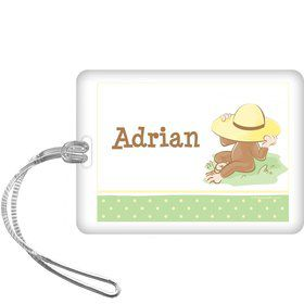 Curious Monkey Personalized Bag Tag (each)