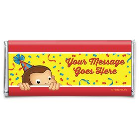 Curious Monkey Personalized Candy Bar Wrapper (Each)