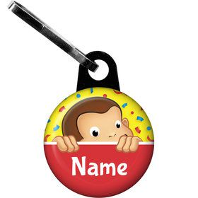 Curious Monkey Personalized Zipper Pull (Each)