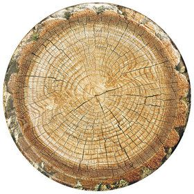 "Cut Timber 10"" Party Plates (8)"