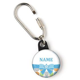 "Cute as a Button Boy Personalized 1"" Carabiner (Each)"